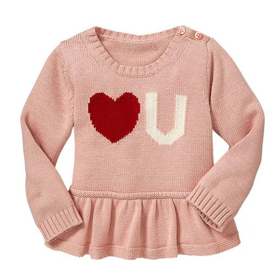 Gap Heart Peplum Sweater