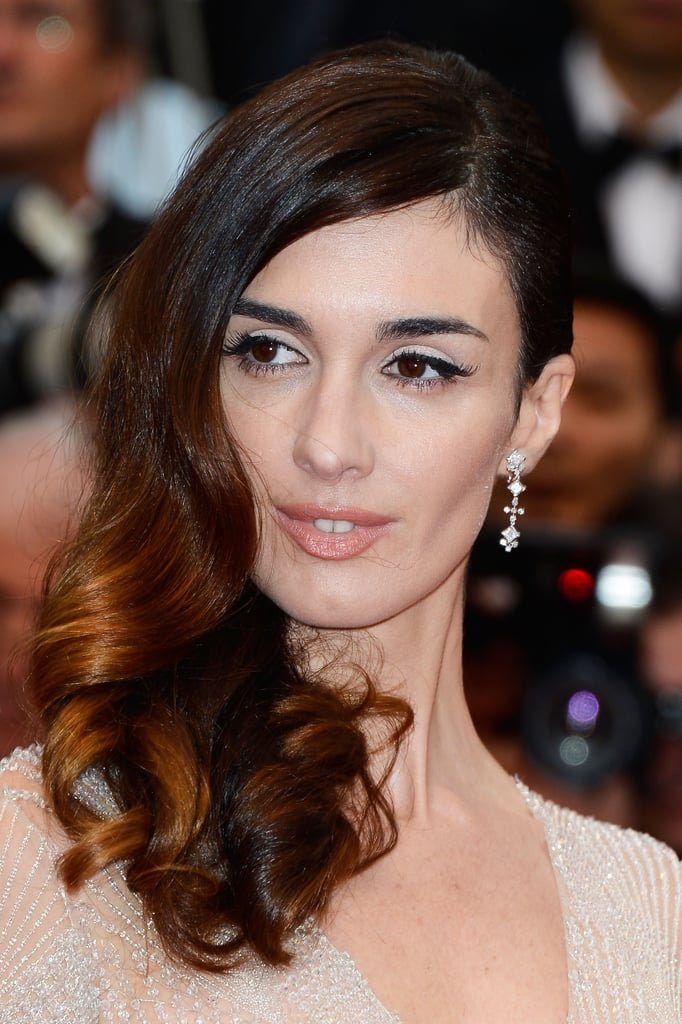 Paz Vega played up her brown eyes with a pale cream shadow and dark lashes. The neutral palette allowed her brunette-to-blond ombré to stand out at the Great Gatsby premiere.