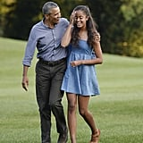 "Barack made a speech at an Indiana high school in June 2016, where he spoke about Malia's departure for college. ""My daughter leaving me is just breaking my heart,"" he revealed. ""If there are any parents here, I hope you can give me some pointers on how not to cry too much at the ceremony and embarrass her."""