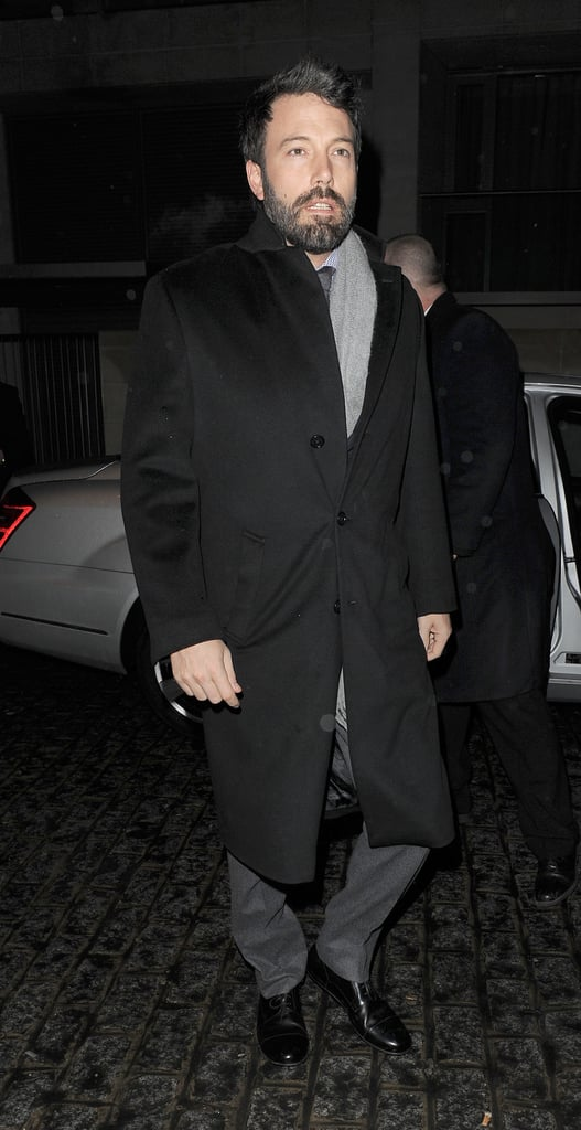 Ben Affleck went out to dinner at Zuma restaurant with friends in London.