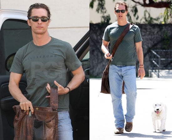 Matthew McConaughey and His Dog
