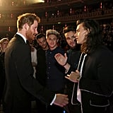 One Direction Meeting Prince Harry in 2015