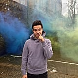 Pete Wentz picked his nose on the streets of London. Source: Instagram user petewentz