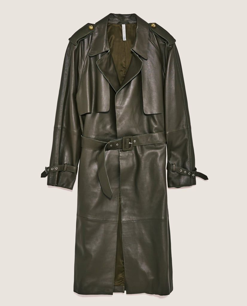 a025fa61f08 Zara Leather Trench Coat