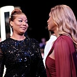 Pictured: Queen Latifah and Laverne Cox