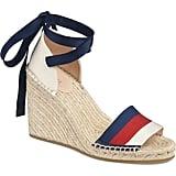 Gucci Lilibeth Sylvie Web Espadrille Wedge Sandals