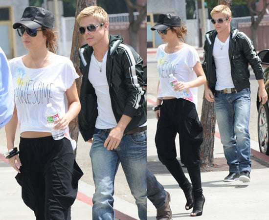 Pictures of Cheryl Cole With Derek Hough in LA Recovering From Malaria