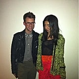 Brad Goreski showed off a couple of well-styled looks before dinner out.