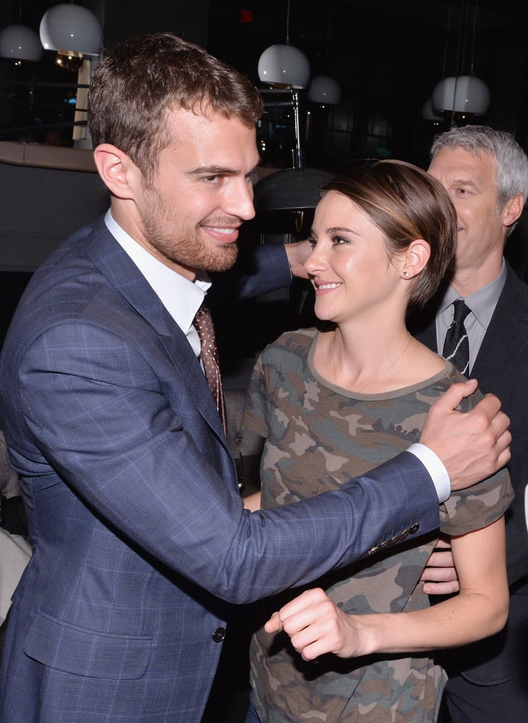 The pair stopped to say hi at a screening of Divergent in NYC.