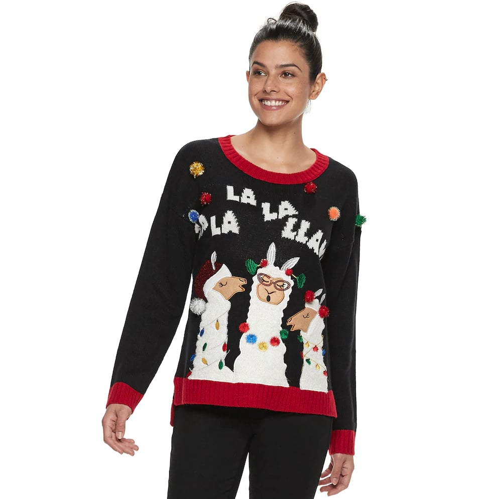 Womens Holiday Crewneck Sweater Best Kohls Ugly Christmas