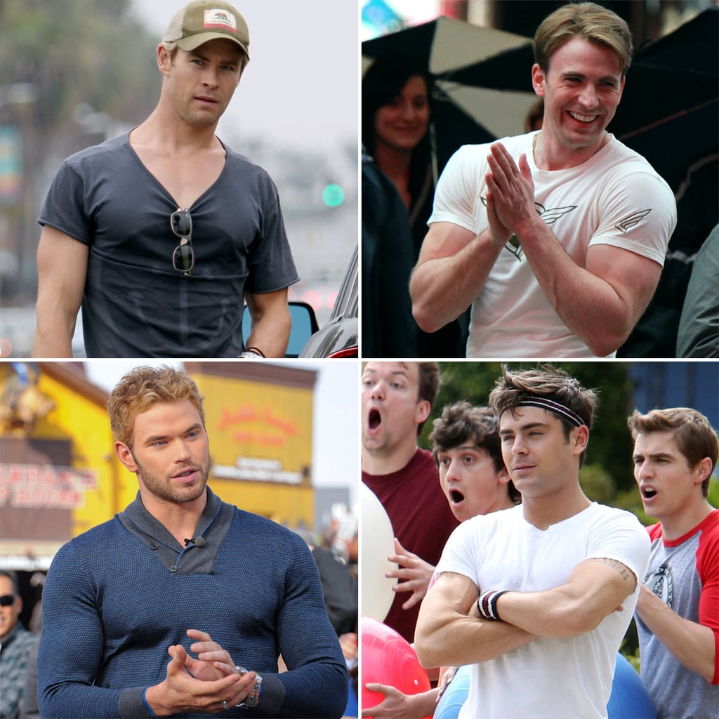 Celebrity Guys in Tight Shirts