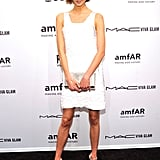 Karlie Kloss looked fresh and flirty in her short white Michael Kors dress.