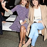 Kendall Sat Front Row at Topshop Unique With Alexa Chung