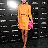 A bold Victoria Beckham mini at a film screening in June 2011.