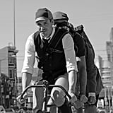 Living tweed on a bicycle built for three.