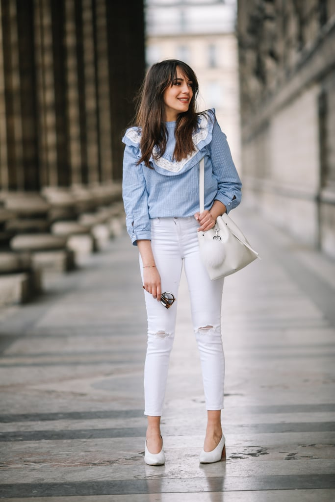 Embrace white jeans — then embrace white shoes to pair with them.