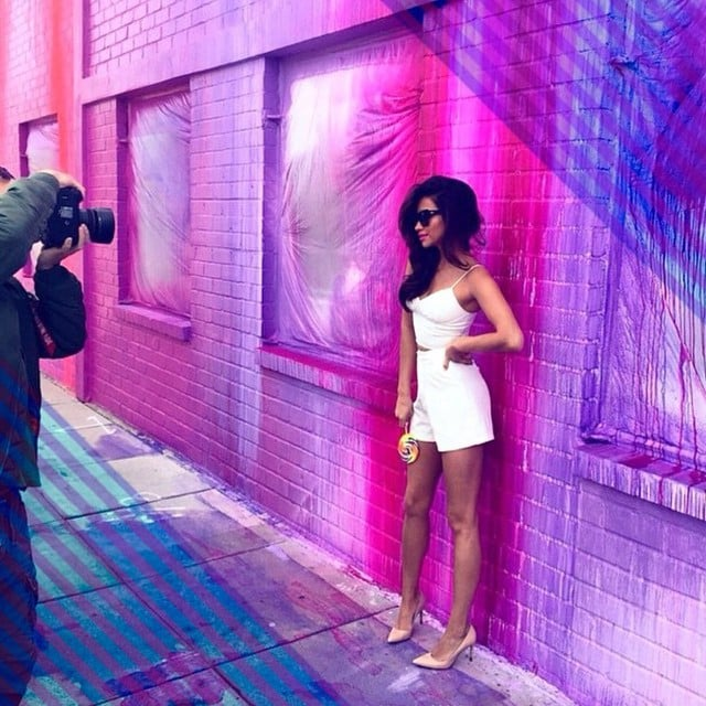 BTS of a photo shoot for Quay Eyewear.