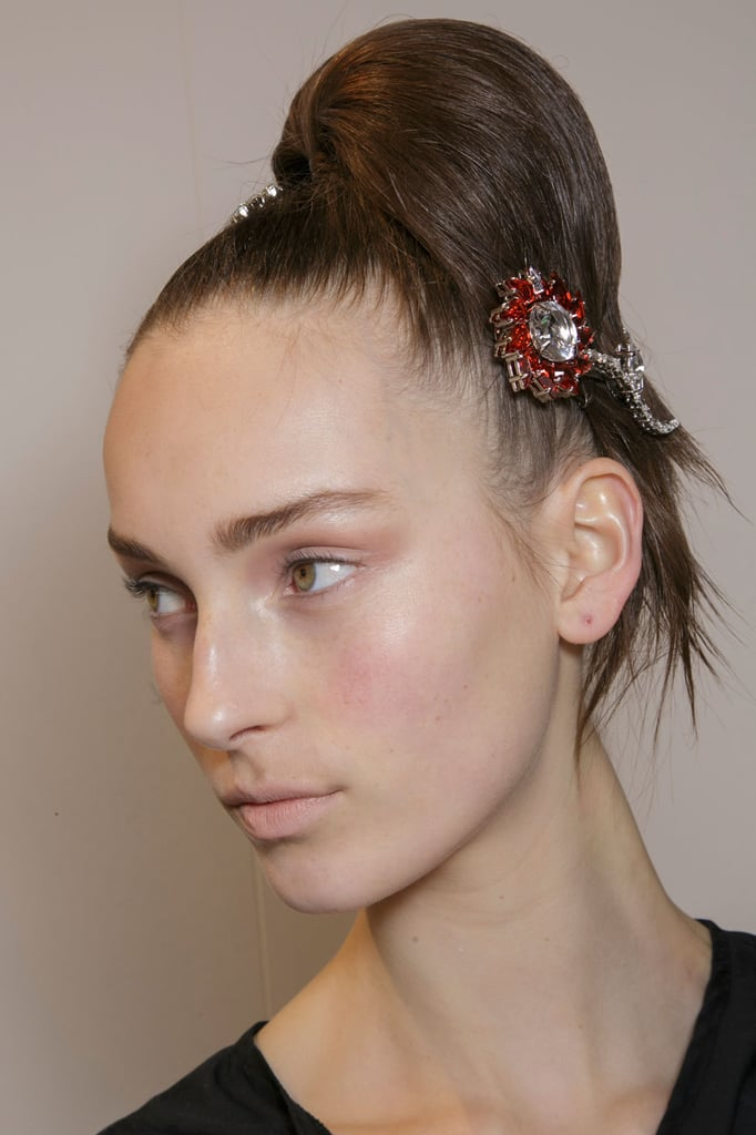 Pull Over To One Side And Secure With A Couple Of Embellished Hair