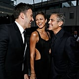 George Clooney and Stacy Keibler paired up to support Ben Affleck at the LA premiere of Argo in October 2012.