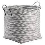 Large Round Woven Plastic Storage Basket