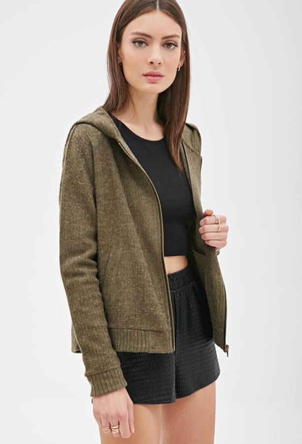 Forever 21 Textured Knit Hoodie