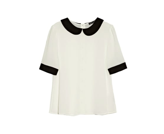The black trim on this collared top ($49, originally $108) really stands out against the rest of the shirt.