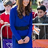 Kate Middleton gives her first public address for the East Anglia Children's Hospice at the Treehouse center in Ipswich, near London.
