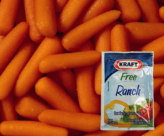 Raw Carrots and Ranch Dressing