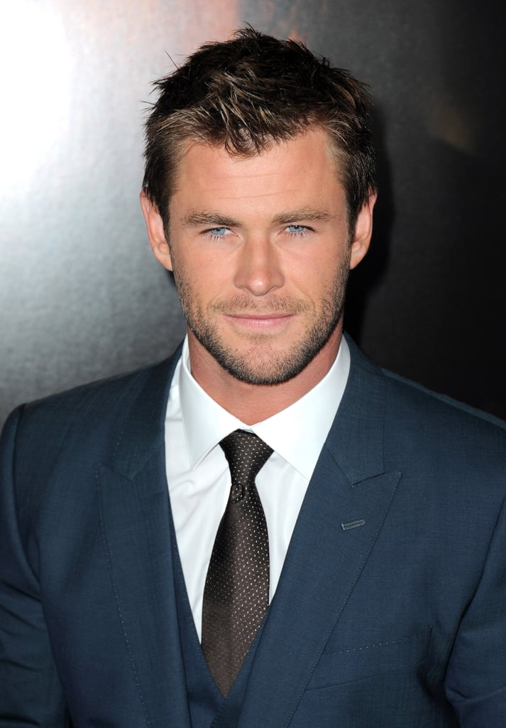 """Chris Hemsworth stepped out for the LA premiere of Blackhat on Thursday looking very, very good. Living up to that """"Sexiest Man Alive"""" title, the actor hit the red carpet in a Dolce & Gabbana suit, showing off a new shorter haircut. Chris smiled for the cameras and posed for pictures with his costars, and thanks to all his superhot smolder moments from throughout the night, it's safe to say we can add this week's premiere to all the times Chris Hemsworth was ridiculously sexy! Take a look at all the hot pictures from Chris's night out, then check out his sweetest family snaps."""