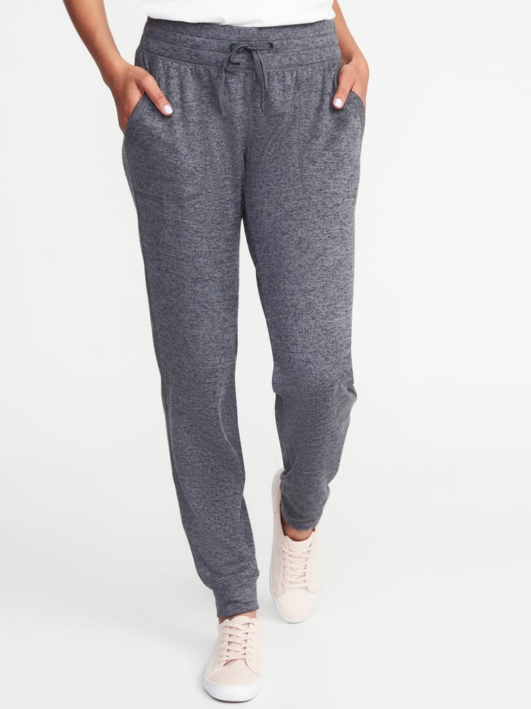 Women Mid-Rise Sweater-Knit Joggers