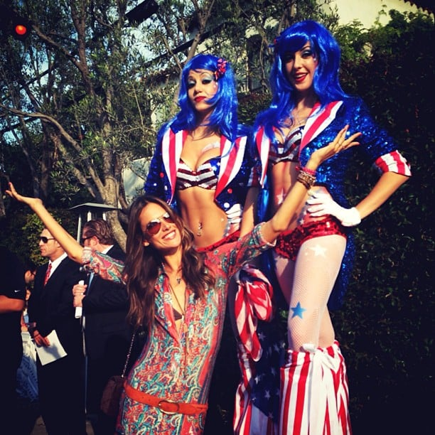 Alessandra Ambrosio partied at a Fourth of July parade. Source: Instagram user alessandraambrosio