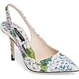 Dolce & Gabbana  Hydrangea Slingback Sandal