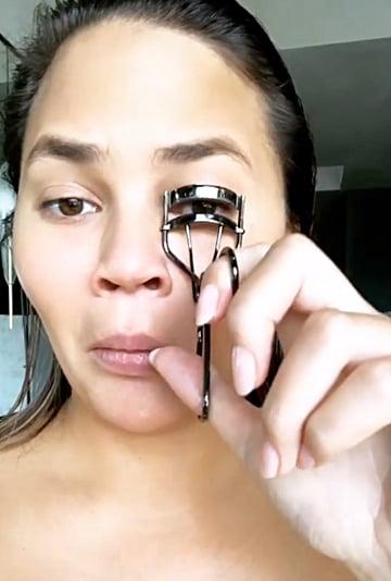 Chrissy Teigen Not Going to the Grammys Makeup Tutorial 2019