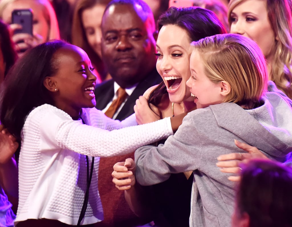 We love seeing Angelina Jolie with her family, but there's just something extra special about seeing her with her daughters that really melts our hearts. In addition to her sons, Maddox, 16, Pax, 13, and Knox, 9, Angelina is also the proud mother to daughters Zahara, 12, Shiloh, 11, and Vivienne, 9, all of whom she shares with Brad Pitt. Most recently, the actress brought Zahara and Shiloh along to the LA premiere of her latest film, The Breadwinner, and we can't get over how grown up they are now. In honor of the brood's close bond, take a look at some of Angelina's sweetest moments with her girls.