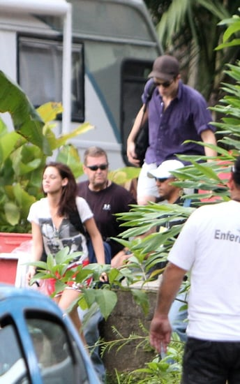 Robert Pattinson and Kristen Stewart were spotted out in Brazil on Tuesday (November 9).