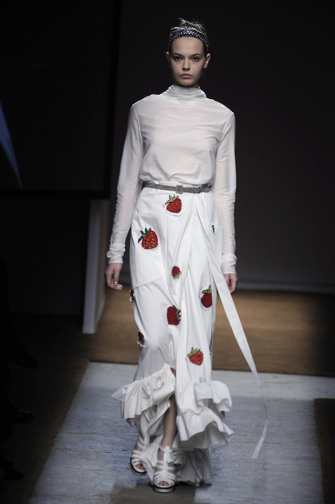Stefano Pilati Is Seeing Strawberries, Knee Slits for Yves Saint Laurent Spring 2010