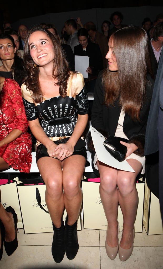 Pippa Middleton Front Row at Temperley