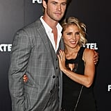 Chris Hemsworth and Elsa Pataky cuddled up on Thursday at the Foxtel season launch in Sydney, Australia.