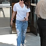 Kristen Stewart wore ripped jeans in LA.