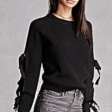 Forever 21 English Factory Cutout Sweater