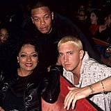 Eminem and Dr. Dre hung out with Diana Ross.
