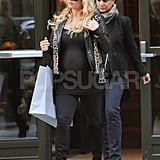 Jessica Simpson Can't Camouflage Her Bump in Another Tight Top