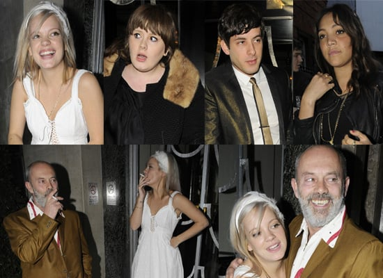 Lily Allen Celebrates Her 23rd Birthday With Father Keith Allen And Friends Mark Ronson, Adele and Miquita Oliver