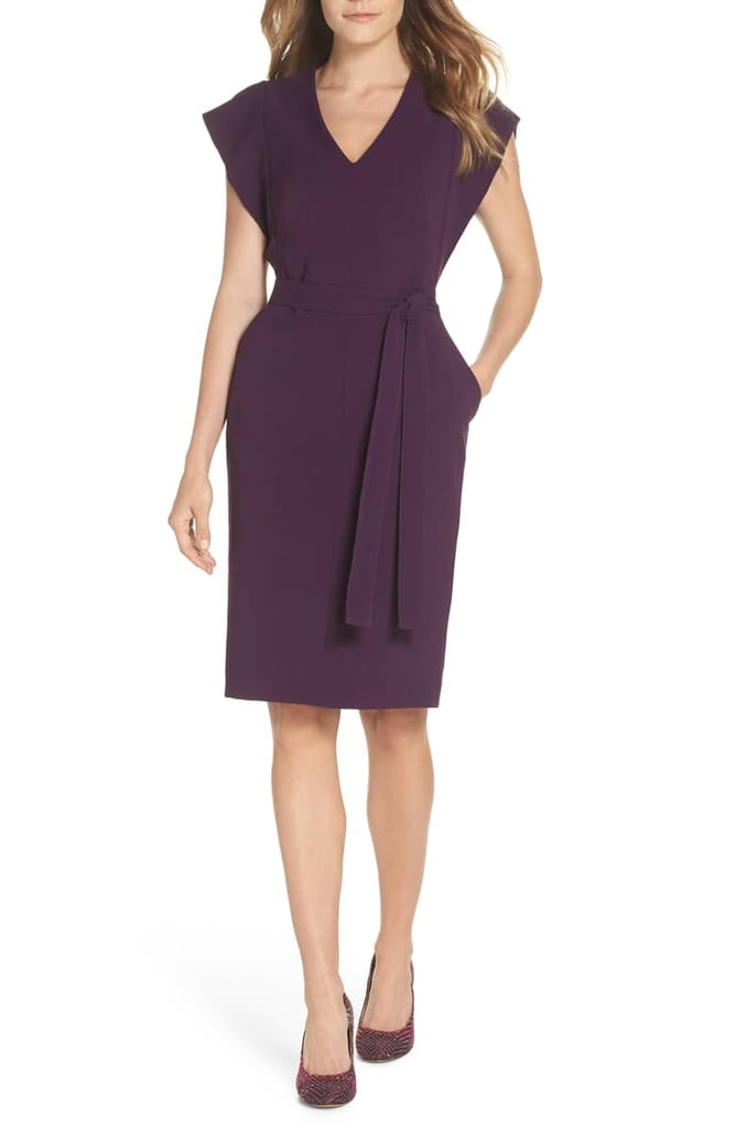 51cbd0372d4 Eliza J Ruffle Sleeve Sheath Dress
