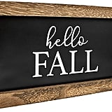 Reversible Hello Fall/Merry Christmas Rustic Wood Sign