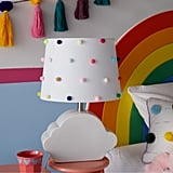 Drew Barrymore Flower Kids Rainbow Dots Shade With Ceramic Cloud Shaped Base