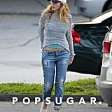 Blake Lively wore a cap and jeans for a grocery shopping trip with Ryan Reynolds in New York.