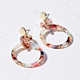 Loft Rainbow Interlocked Ring Earrings
