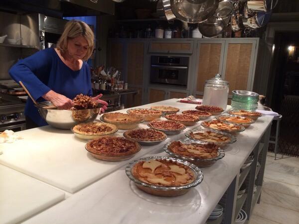 Martha Stewart showed off her baking marathon.  Source: Twitter user MarthaStewart