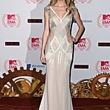 Swift graced the European Music Awards in a sparkly J. Mendel cutout number.
